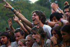 Festivalfolkmassa Arkivbild