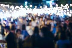 Festivalhändelseparti med suddig bakgrund för folk royaltyfria bilder