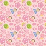 Festivalhintergrund der japanischen Mädchen Lizenzfreies Stockbild