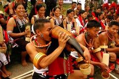 festivalhornbillindia nagaland Arkivfoto