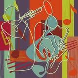 festivalillustrationjazz Royaltyfri Bild