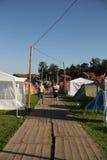Festivalkampieren Stockfoto
