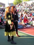festivalkvinnor Arkivfoton
