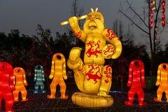 Festivallaternenfestival mit 2016 Sonnen in Chengdu, Porzellan Lizenzfreies Stockbild
