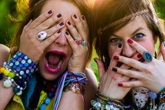 Festivalleute Lizenzfreie Stockfotos
