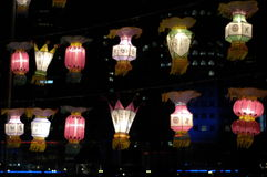 festivallykta singapore royaltyfri bild