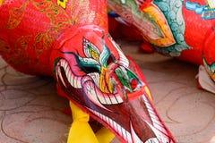 Festivalmasker Phi Ta Khon Stock Afbeelding