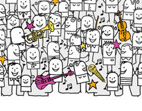 festivalmusik Arkivbilder