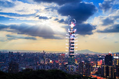 Festivals de feux d'artifice à Taïwan Images libres de droits