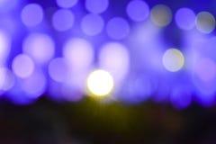 Festivalshow Lithing und der Musik Unscharfes Foto stockbild