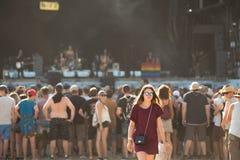 Festivalvisitors Stock Afbeelding
