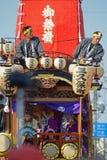 Festivalvlotter tijdens kawagoefestival 2014 royalty-vrije stock afbeeldingen