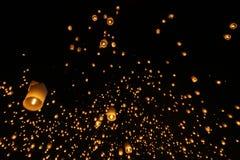 Festivalyee peng lannain Chaing Mai, Ταϊλάνδη φαναριών ουρανού Στοκ φωτογραφία με δικαίωμα ελεύθερης χρήσης