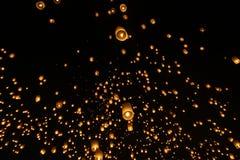 Festivalyee peng lannain Chaing Mai, Ταϊλάνδη φαναριών ουρανού Στοκ εικόνα με δικαίωμα ελεύθερης χρήσης