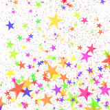 Festive. Multi-coloured stars in the form of confetti Royalty Free Stock Photo
