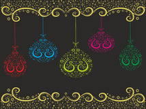 Festive abstract colored balls. Editable and scalable vector illustration Royalty Free Stock Images