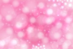 A festive abstract pink purple gradient background texture with glittering stars and bokeh circles. Card concept for Happy New stock photography