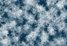 Festive abstract winter background with bokeh Royalty Free Stock Image