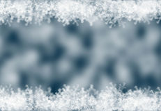 Festive abstract winter background with bokeh. Defocused lights. Space for text stock photo