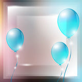 Festive air balloons , greeting cards. Greeting card Stock Photos