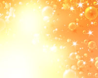 Festive air bubbles. Abstract golden background royalty free illustration