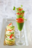 Festive appetizers Stock Images