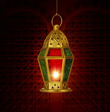 Festive arabic lantern Stock Photos