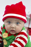 Festive Baby and Presents Stock Photography