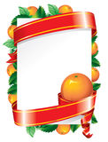 Festive background (). Festive background with orange and a red ribbon Royalty Free Stock Images