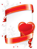 Festive background (). Festive background for Valentine's Day with hearts and red ribbon Stock Images
