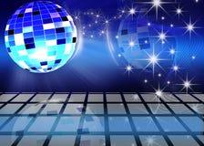 Festive background. Festive dance background with brilliant ball royalty free illustration