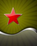Festive background. With red star Royalty Free Stock Image