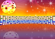 Festive background. Festive dance background with brilliant ball Royalty Free Stock Photography