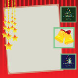 Festive background. For the winter holidays. Vector illustration Royalty Free Stock Photos