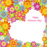 Festive background. Heart on flowers Stock Images
