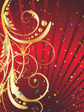 Festive background. Abstract vector festive background in red colors Stock Photos