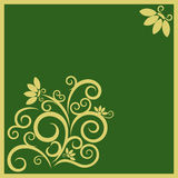 Festive background with abstract design. Festive background with beautiful floral elements in golden color and free space for Your text Royalty Free Stock Photos
