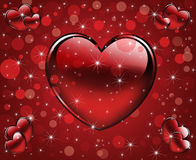 Festive background3. Abstract rd background with hearts Stock Photography