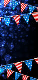 Festive background with American flags. Stock Photography