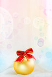 Festive background with a ball Stock Images