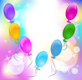 Festive background with balloons. Festive background for greeting card Royalty Free Stock Photos