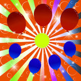 Festive background with balloons. Balloon Celebration Group Event Festival Colour Fun Party Gely Birthday royalty free illustration