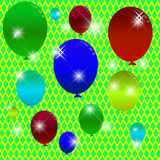 Festive background with balloons. Balloon Celebration Group Event Festival Colour Fun Party Gely Birthday vector illustration