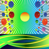 Festive background with balloons. Balloon Celebration Group, Event Festival, Colour Fun Party Gely Birthday stock illustration