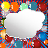 Festive background with balloons. Stock Photos