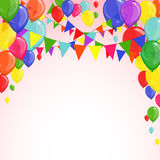 Festive background with balloons. Bright festive background with colorful balloons and garlands Royalty Free Stock Image