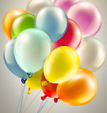 Festive background with balloons. Light festive background with bright colorful balloons Royalty Free Stock Photo