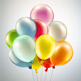 Festive background with balloons. Light festive background with bright colorful balloons Royalty Free Stock Images