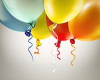 Festive background with balloons. Light festive background with bright colorful balloons Stock Photography