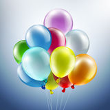 Festive background with balloons. Light festive background with bright colorful balloons Stock Images